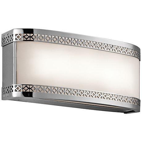 """Kichler Contessa 12""""W Chrome 2-Light LED Linear Bath Light"""