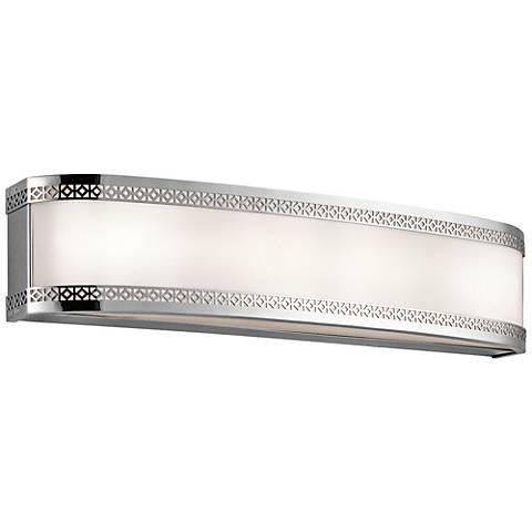 """Kichler Contessa 24""""W Chrome 4-Light LED Linear Bath Light"""
