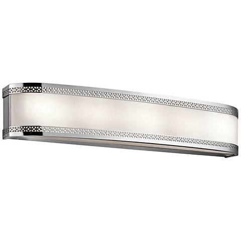 """Kichler Contessa 30""""W Chrome 6-Light LED Linear Bath Light"""