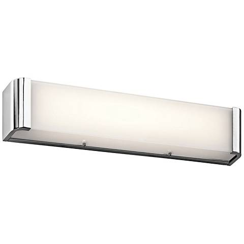 "Kichler Landi 24"" Wide Chrome 2-Light LED Linear Bath Light"