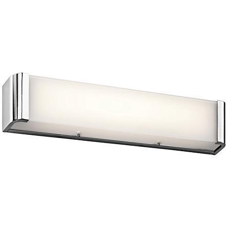 "Kichler Landi 24"" Wide Chrome 2-Light LED Linear Bath Light"