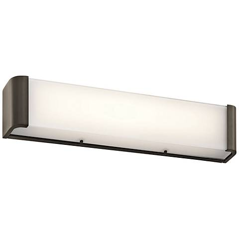 "Kichler Landi 24""W Olde Bronze 2-Light LED Linear Bath Light"