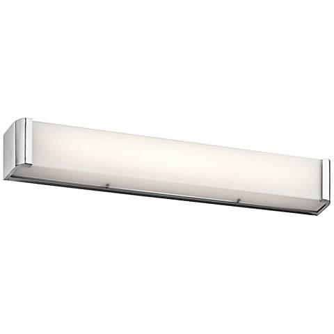 "Kichler Landi 36"" Wide Chrome 3-Light LED Linear Bath Light"