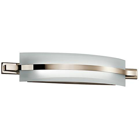 "Freeport 28""W Polished Nickel 2-Light LED Linear Bath Light"