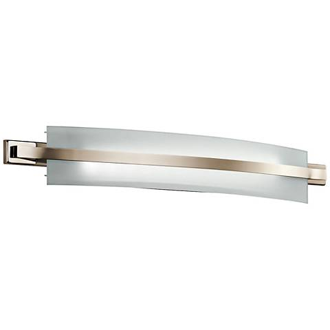 "Freeport 36""W Polished Nickel 2-Light LED Linear Bath Light"