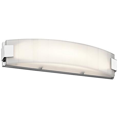 "Kichler Largo 24"" Wide Chrome 2-Light LED Linear Bath Light"