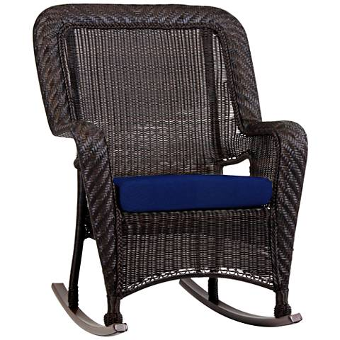 Key West Solar Admiral Chocolate Outdoor Rocking Armchair