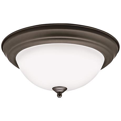 "Kichler Stonecrest 13 1/4""W Olde Bronze LED Ceiling Light"