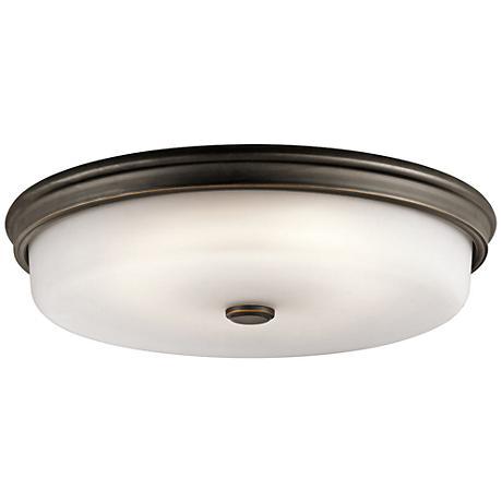 "Kichler Jefferson 18"" Wide Olde Bronze LED Ceiling Light"