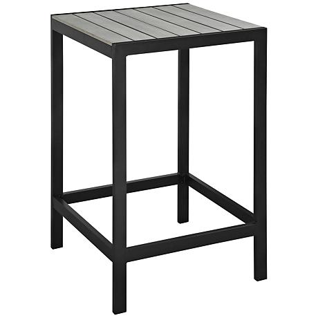 Maine Brown and Gray Square Outdoor Patio Bar Table