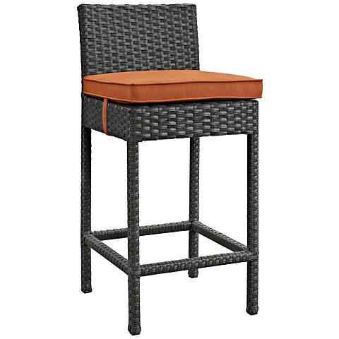 "Sojourn 27 1/2"" Canvas Tuscan Fabric Outdoor Patio Barstool"
