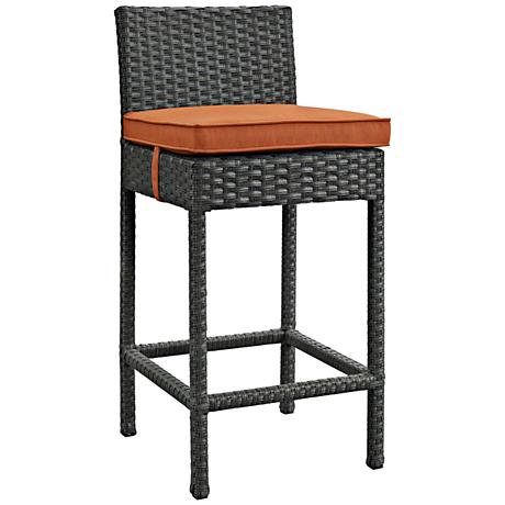 """Sojourn 27 1/2"""" Canvas Tuscan Fabric Outdoor Patio Barstool"""
