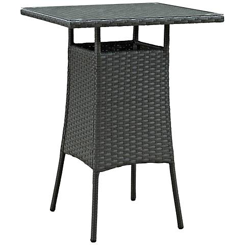 Sojourn Small Chocolate Square Outdoor Patio Bar Table