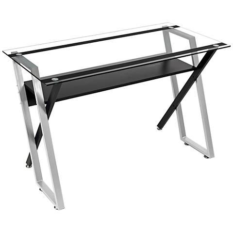 Calico Designs Colorado Black and Silver Desk
