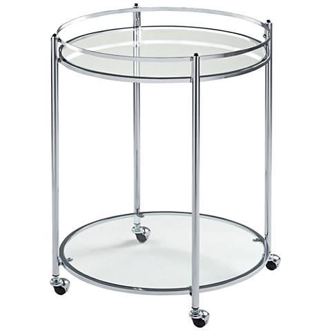 Studio Designs Home Veranda Chrome Round Bar Cart