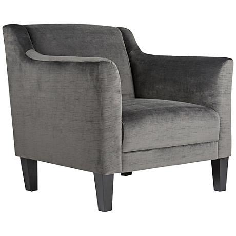 Studio Designs Home Grotto Empire Charcoal Fabric Armchair