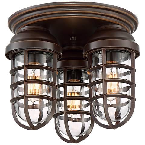 Marlowe Bronze 3-Light Ceiling Light