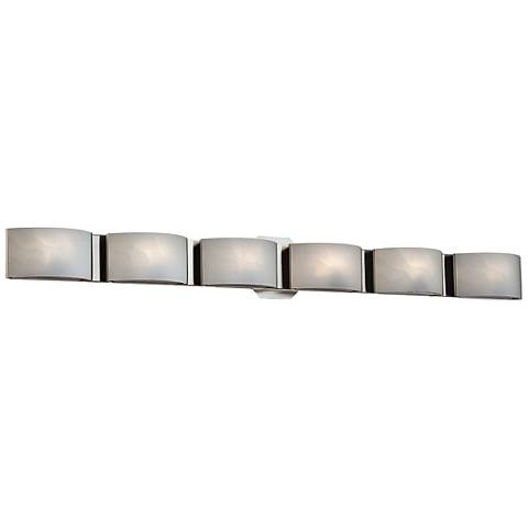 "Eurofase Dakota 40 1/2"" Wide Chrome 6-Light LED Bath Light"