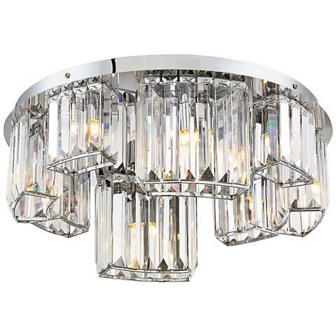 """Eurofase Lumino 18 3/4"""" Wide Chrome 8-Light Ceiling Light"""