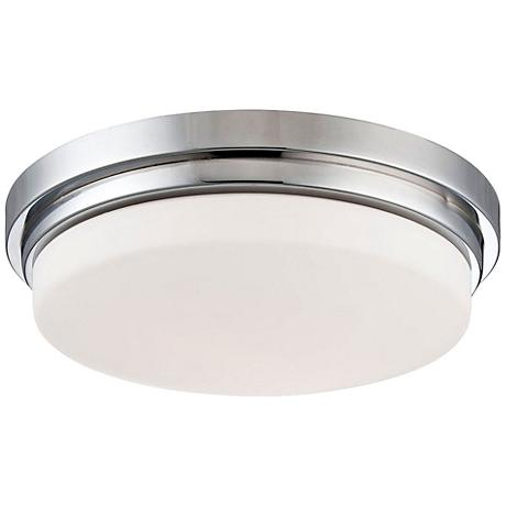 """Eurofase Wilson 12 3/4"""" Wide Chrome LED Ceiling Light"""