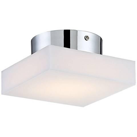 """Eurofase Evolve 6"""" Wide Chrome LED Ceiling Light"""