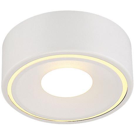 """Eurofase Stavro 6"""" Wide White 1-Light LED Ceiling Light"""