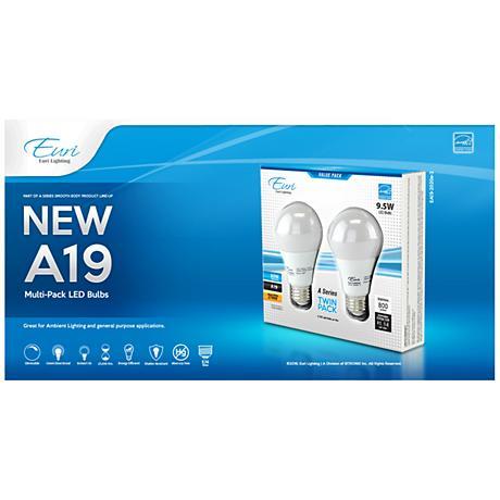 9.5 Watt LED 2700K A19 Omni-Directional Light Bulb 2-Pack