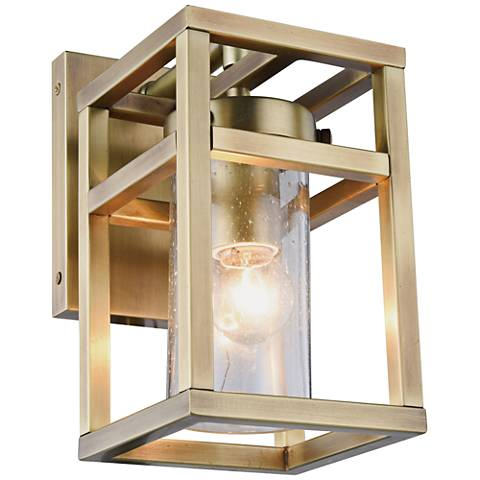 "Bianca 10"" High Burnished Brass 1-Light Wall Sconce"