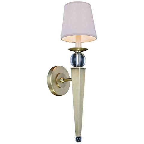 """Olympia 21"""" High Burnished Brass 1-Light Wall Sconce"""