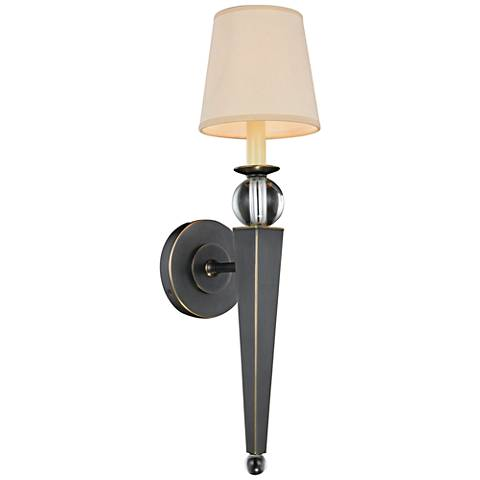 "Olympia 21"" High Bronze 1-Light Wall Sconce"
