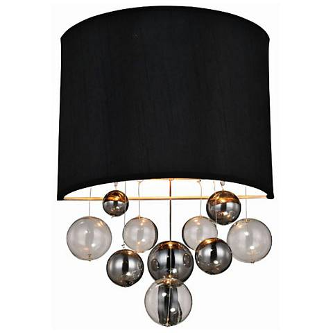 """Milan 16"""" High Burnished Brass Wall Sconce"""