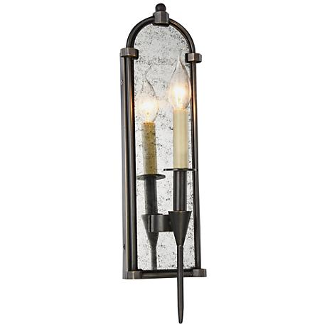 bavaria 19 high bronze 1 light wall sconce 9f229 lamps plus. Black Bedroom Furniture Sets. Home Design Ideas