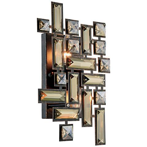 "Picasso 12"" High Dark Bronze 2-Light Wall Sconce"