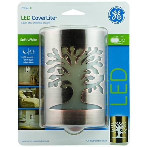 GE Coverlite Tree of Life Oil Rubbed Bronze LED Night Light