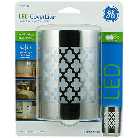 GE Coverlite Moroccan Brushed Nickel LED Night Light