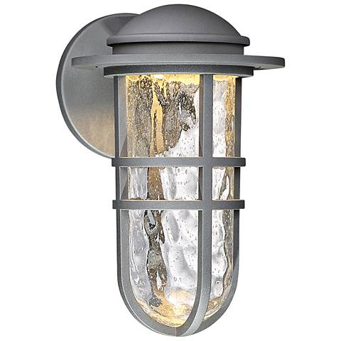 """dweLED Steampunk 13"""" High Graphite LED Outdoor Wall Light"""