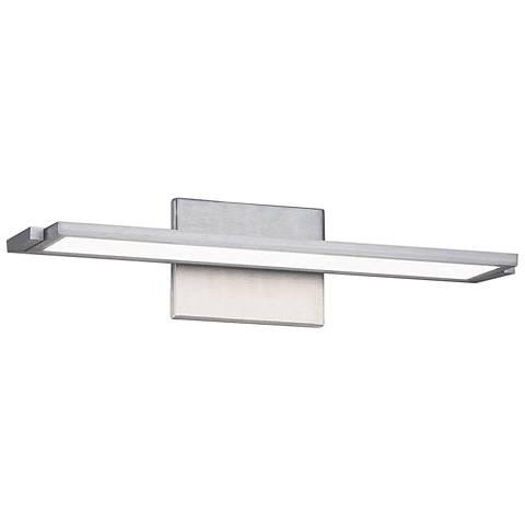 """dweLED Line 18"""" Wide Brushed Aluminum LED Bath Light"""