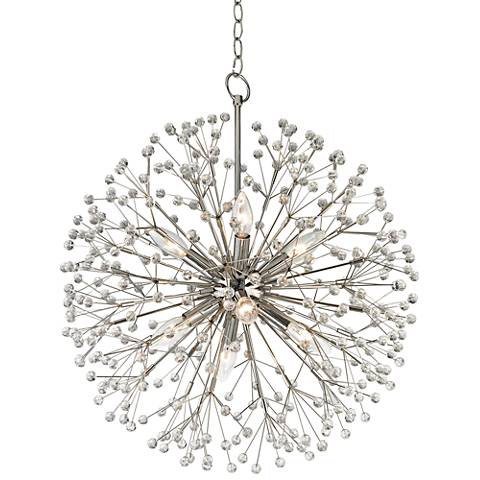 "Hudson Valley Dunkirk 20"" Wide Polished Nickel Chandelier"