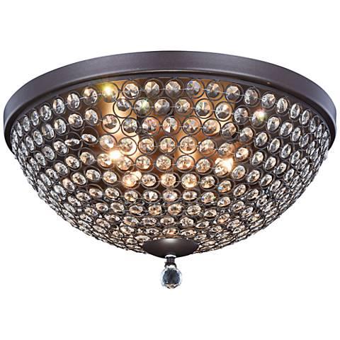 "Brida 18"" Wide Matte Dark Brown 6-Light Ceiling Light"
