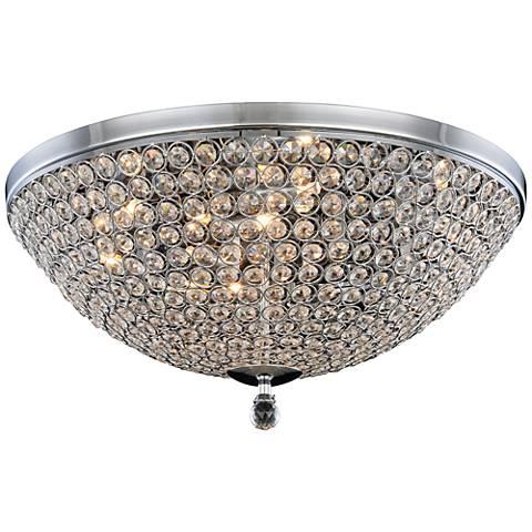 """Brida 21 3/4"""" Wide Chrome 9-Light Ceiling Light"""