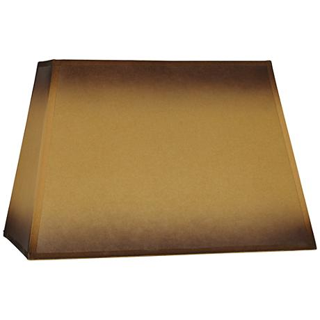 Brown Parchment Paper Lamp Shade 6/14x12/18x12 (Spider)
