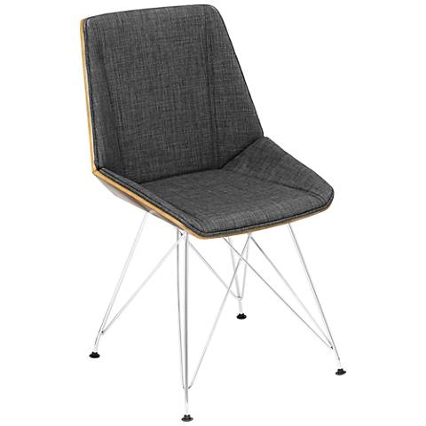 Pandora Mid-Century Modern Charcoal Accent Chair