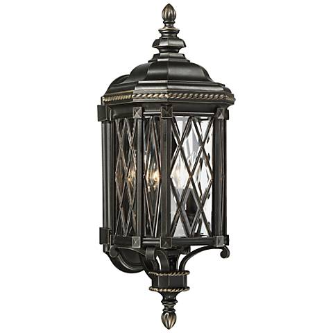 "Bexley Manor 25 1/4""H Diamond Black Outdoor Wall Light"