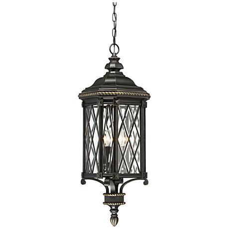 "Bexley Manor 31 3/4""H Diamond Black Outdoor Hanging Light"