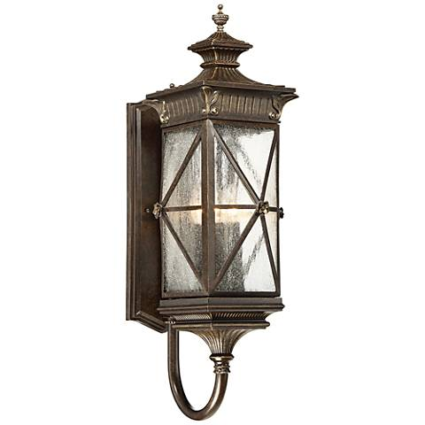 "Rue Vielle 29""H Large Forged Bronze Outdoor Wall Light"
