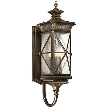 """Rue Vielle 29""""H Large Forged Bronze Outdoor Wall Light"""