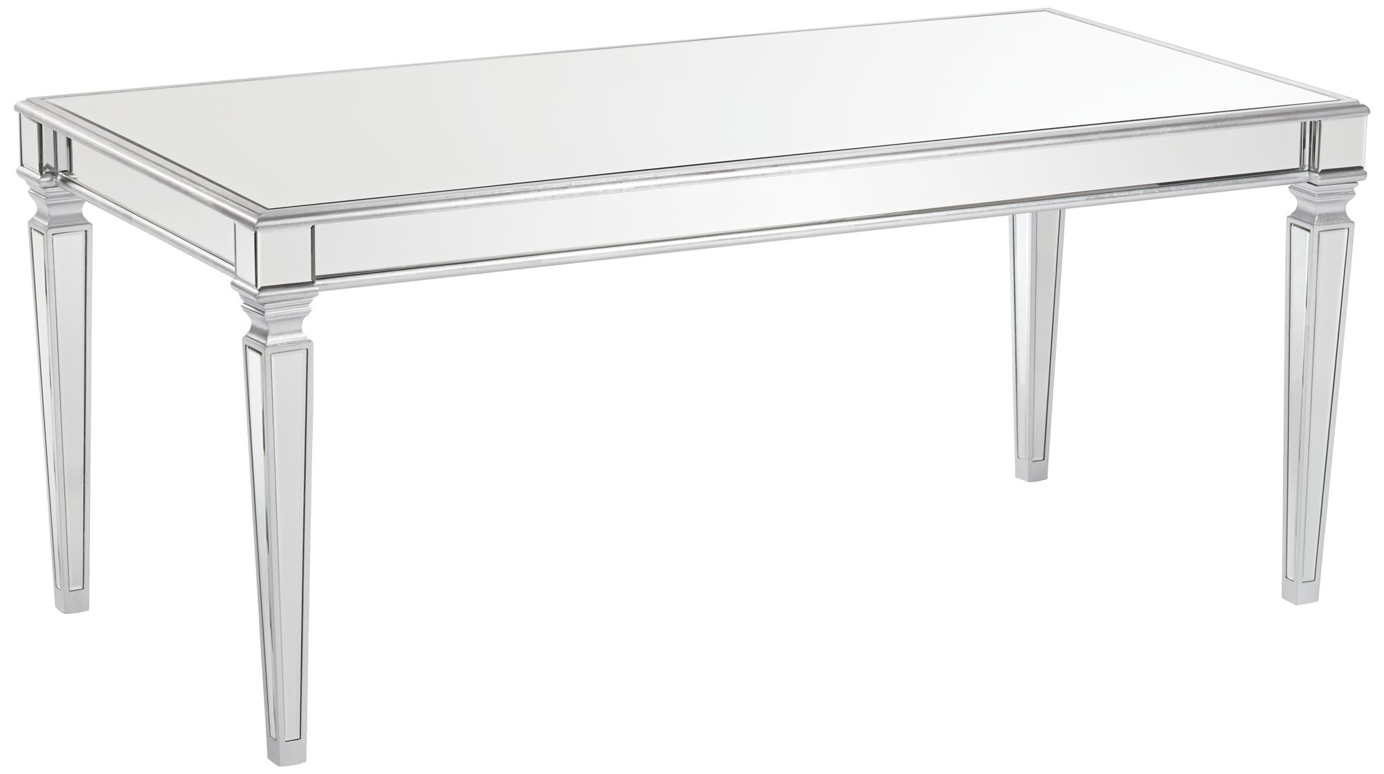 Veronica Silver And Mirror Dining Table