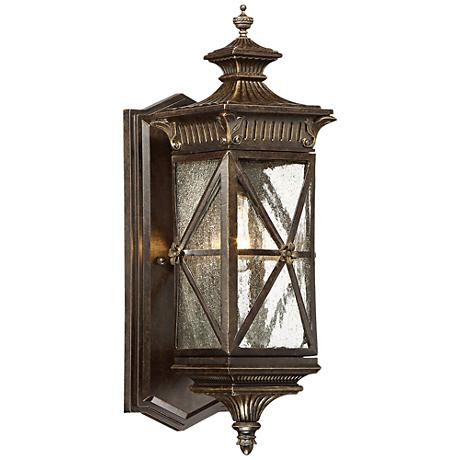 """Rue Vielle 17""""H Small Forged Bronze Outdoor Wall Light"""