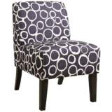 Yen Ring Pattern Fabric Accent Chair