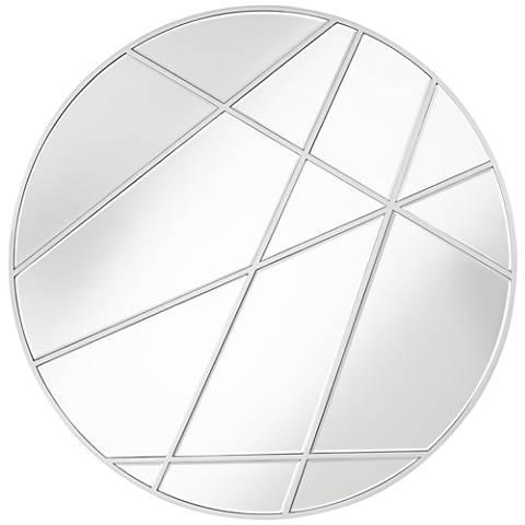 """Florenza  Silver 33 1/2"""" Round Wall Mirror"""
